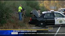 CHP officer injured in traffic accident