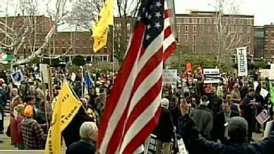 Protesters Rally Against House Budget Plan