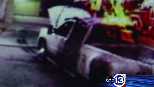 Family's truck set on fire in front of home