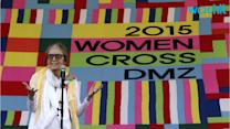 Gloria Steinem and Activists Cross DMZ Between Koreas