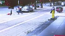Toddler miraculously survives accident in China +WARNING+
