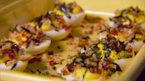 Warm 'Steakhouse' Deviled Eggs Recipe