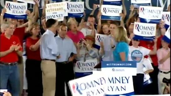 Raw Video: Romney rallies energetic crowd at Museum Center