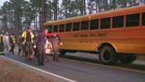 Durham girl hit by vehicle while getting on school bus