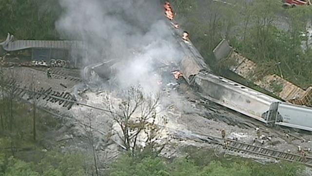 Sudden Explosion After Baltimore Train Derailment