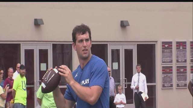 Andrew Luck, Riley lead way for healthier lifestyle for kids
