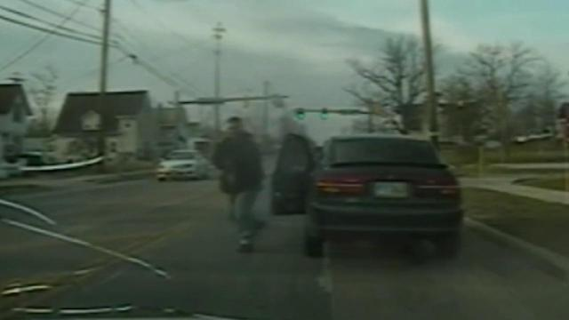 Ohio police shootout caught on tape; Suspect armed with AK-47