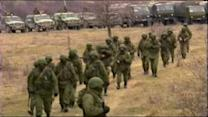 Russian troops take over part of Ukraine