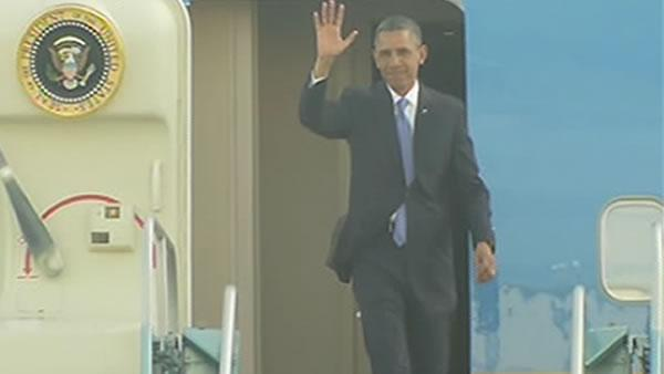 Air Force One makes smooth arrival into Bay Area