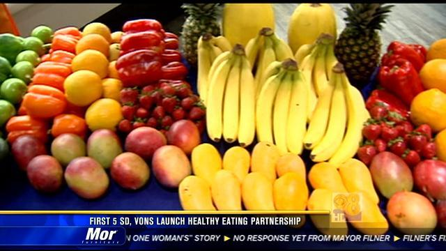 First 5 San Diego, Vons launch healthy eating partnership