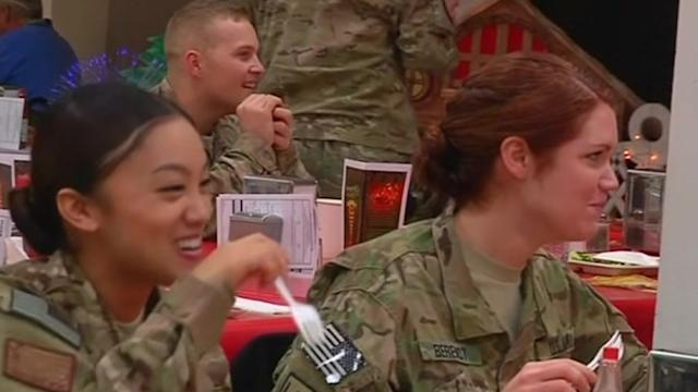U.S. troops celebrate Christmas in Afghanistan