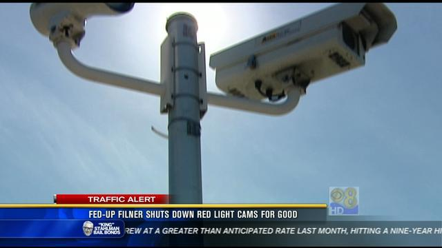 Fed-up Filner shuts down red light cams for good