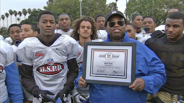 Crenshaw High School's Robert Garrett is the ABC7 NFL High School Coach of the Year