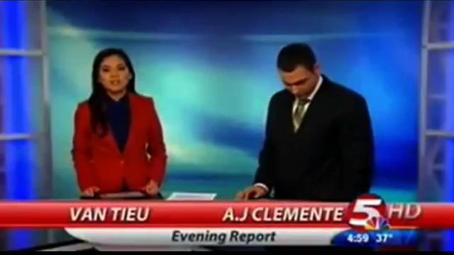 TV anchor A.J. Clemente drops F-bomb on air