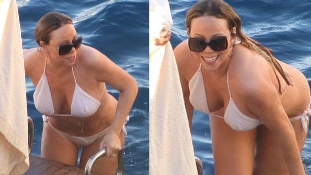 HOT OR NOT? Mariah Carey Shows Off Her Curves In A White BIKINI