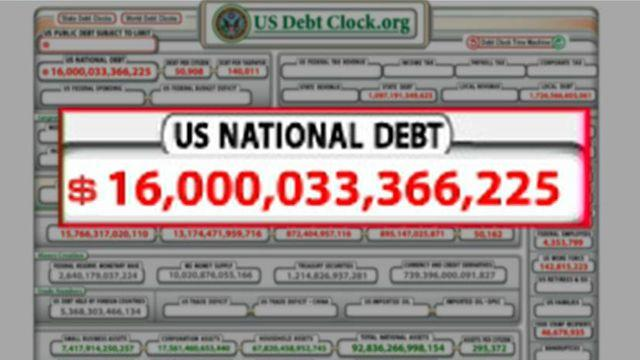 Treasury Dept: US debt officially hits $16T