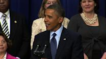 """Removed from """"cliff"""" talks, Obama ribs Congress"""