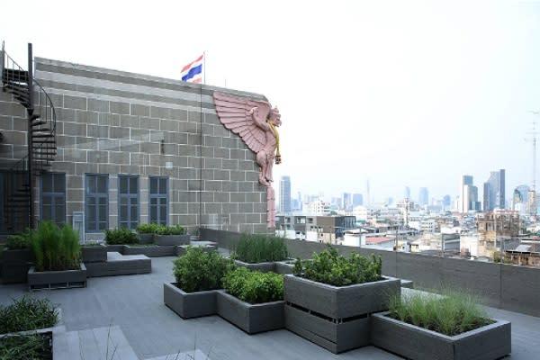 泰國創意設計中心頂樓空中花園 (圖/TCDC)