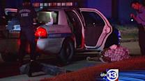 Suspected car thief in hospital after chase, crash