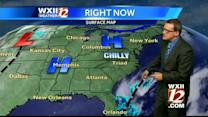 Chilly and mid-50's in the Piedmont