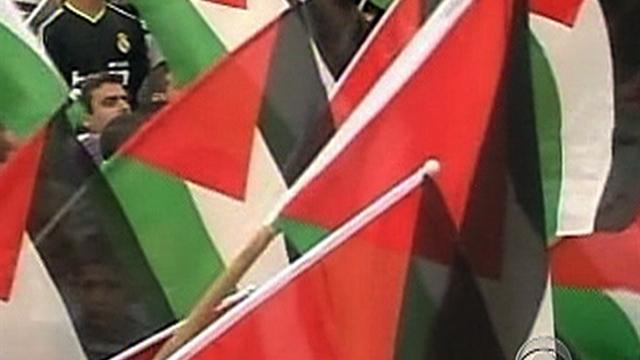 Palestinians celebrate statehood request