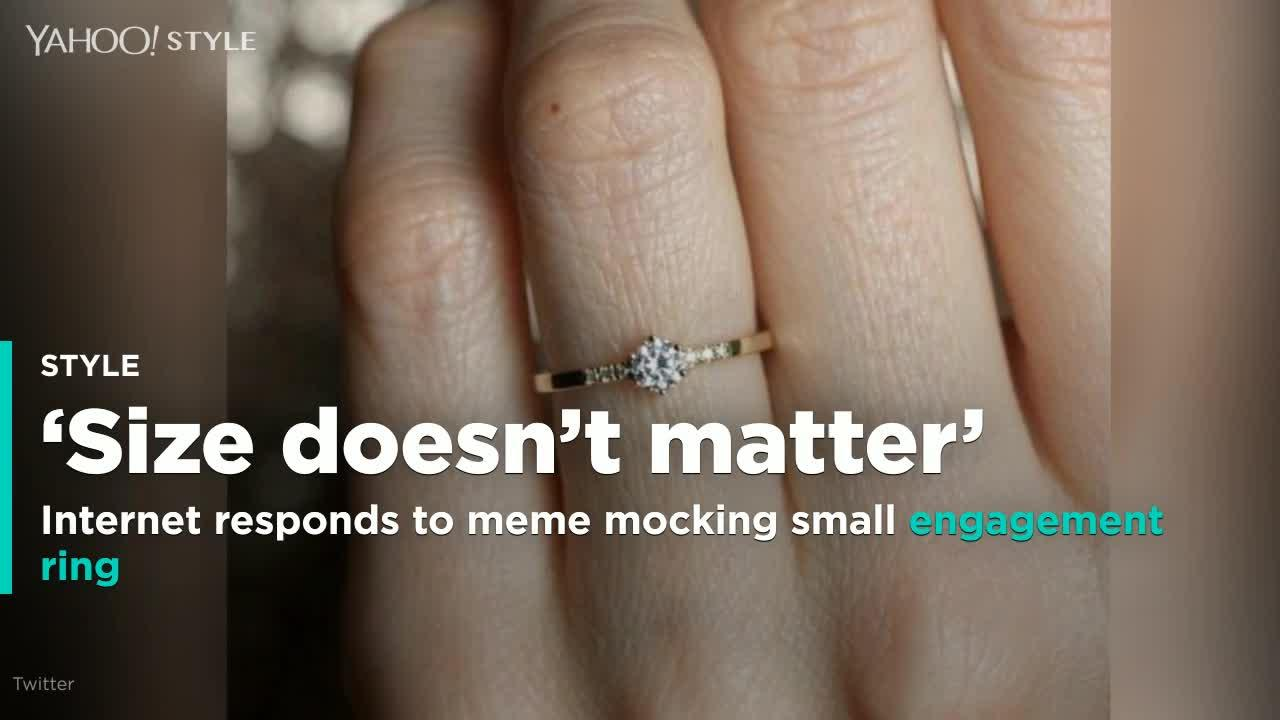 Small Engagement Ring Meme Goes Viral