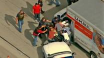 U-Haul chase suspect dragged out of truck