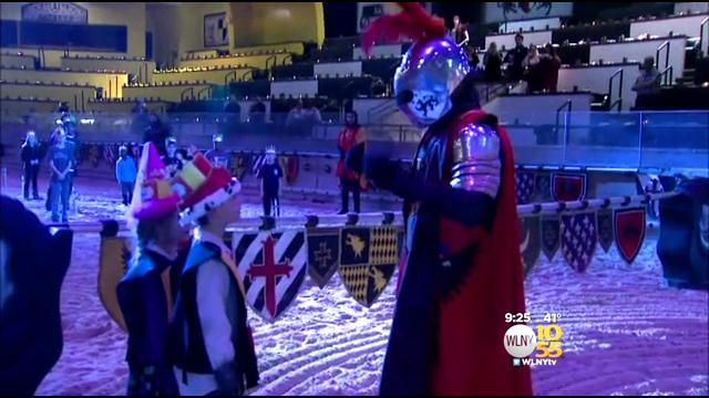 Soldier Surprises Family As Knight At Medieval Times