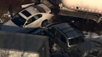 Pileup of dozens of cars stalls traffic in Pennsylvania
