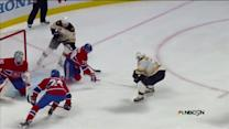 Bergeron scores off give-and-go with Marchand