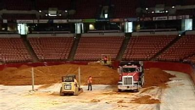 BI-LO Center Gets Filled With Dirt