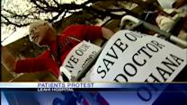 Seniors and caregivers protest to keep geriatric doctor