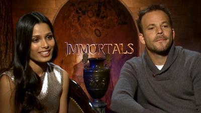Freida Pinto And Stephen Dorff Talk Stripping Down For 'Immortals'