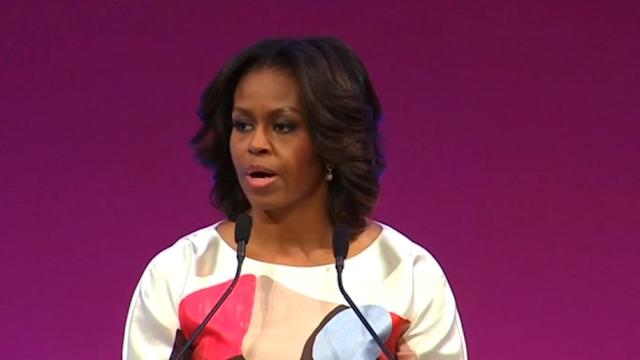 Michelle Obama discusses missing plane in China