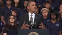 Obama talks violence at Hyde Park school