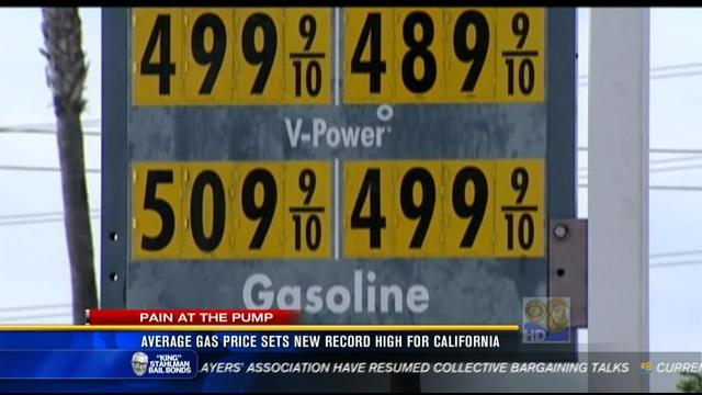 Average gas price sets new high for California