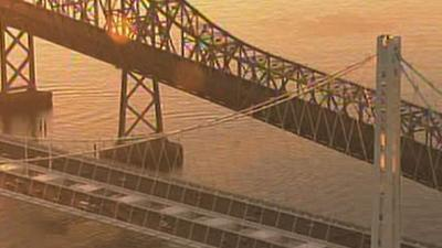 Raw: First Morning Rush for New Bay Bridge