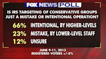 Fox Poll: IRS targeting of conservative groups intentional?