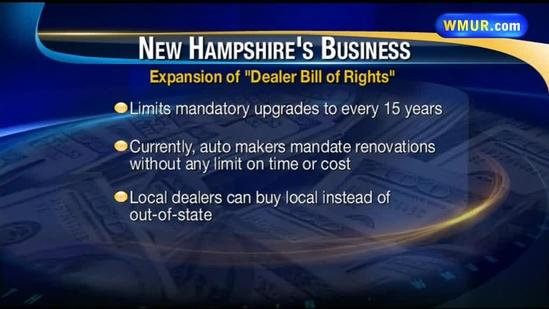 NH auto dealers take on US auto makers over 'rights'