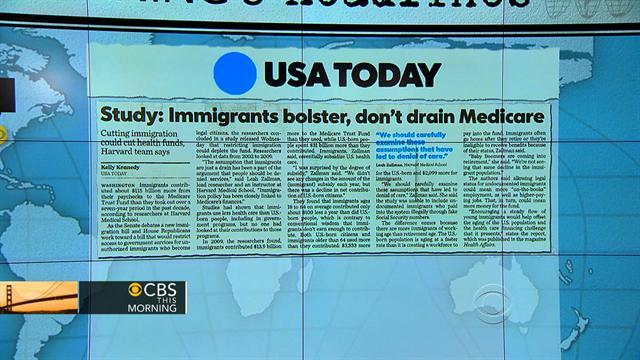 Headlines at 8:30: Immigrants put more money into Medicare than they take out
