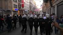 Turkey police disperse crowds on protests anniversary