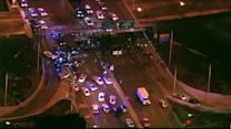 Protesters clash with police in Chicago