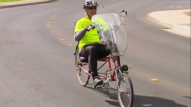 70-year-old bikes across country for wounded warriors