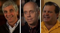 Eric Heiden, Scott Hamilton and Mike Eruzione on the 1980 Winter Olympic Village in Lake Placid