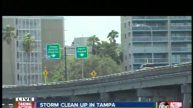 Major clean up after Sunday night storms