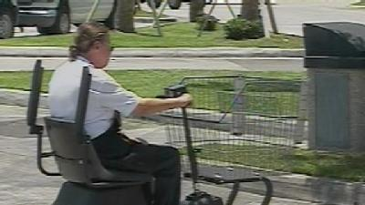 Woman Steals Pricey Motorized Shopping Cart