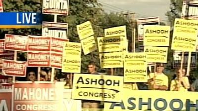 Supporters Rally Outside Debate