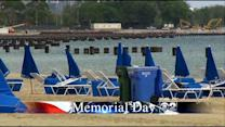 Rain Puts Damper On Memorial Day Beach-Goers