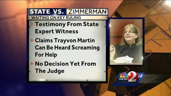 No decision yet on George Zimmerman case voice expert testimony