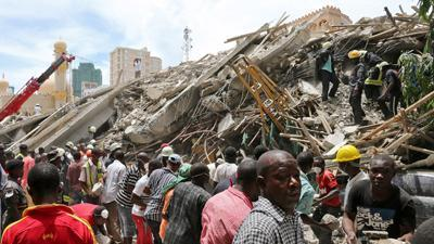 Raw: Deadly Building Collapse in Tanzania